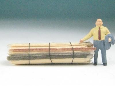 DUHA 11495 - 1 Bund Schwartenbretter 34,5 mm lang (Spur H0)