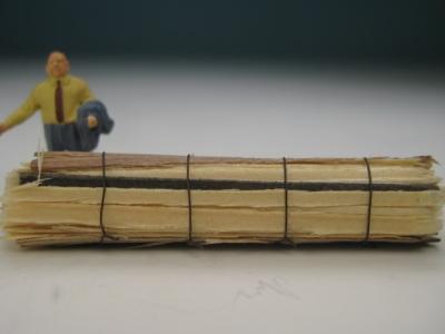 DUHA 11496 - 1 Bund Schwartenbretter 46 mm lang (Spur H0)