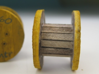 DUHA 11256 - 3 gelbe Kabeltrommeln (Spur H0)