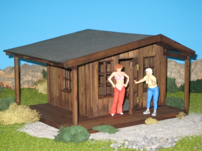 40939 - Gartenhaus ohne Geländer