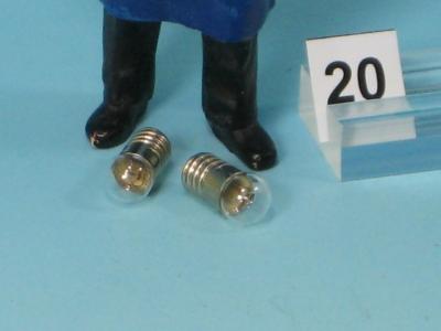 Glühlampe klar, E 5,5 - 19 V - Glaskolben Ø 6 mm (2 Stück)