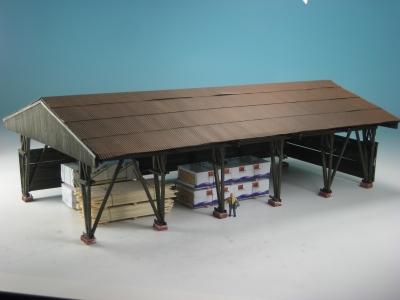 DUHA 21161 - Große Überdachung für Lagerplatz