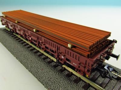 DUHA 11564 C - Schienen rostig, auf Holzträgern