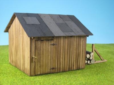 41959 - Waldhütte mit Holz