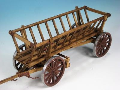 40977 - Leiterwagen - Handarbeitsmodell aus Echtholz