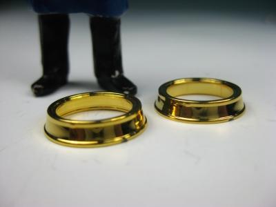 LGB Ersatzteil Lampenringe (2) goldfarben, Ø 17 mm