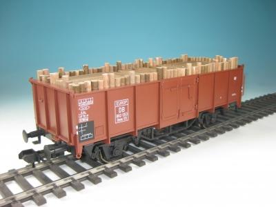 DUHA 15110 - Grubenholz, Holzbeladung für offenen Güterwagen Omm 52