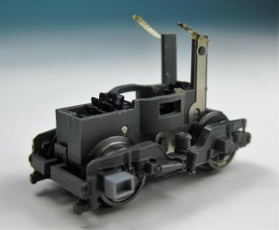 Fleischmann Original-Ersatzteil - 7260 Drehgestellblock m. Rahmen & Rädern, grau