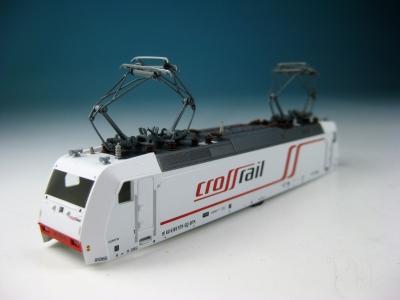 Fleischmann Original-Ersatzteil - Lokgehäuse 7385 crossrail mit Dachstromabnehmern