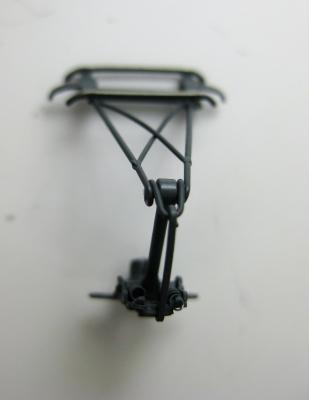 Einholmstromabnehmer dunkelgrau mit langem Schleifer