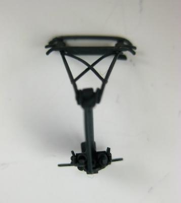 Einholmstromabnehmer dunkelgrau mit kurzem Schleifer