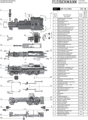 Ersatzteilblatt 7071 - BR 70.0 DRG