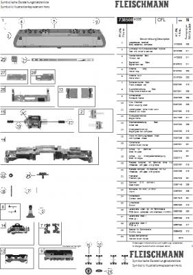 Ersatzteilblatt 738508 - Elektrolokomotive BR 4000 der CFL.