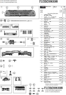 Ersatzteilblatt 738601 - Elektrolokomotive Reihe Re 485 der bls cargo