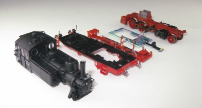 Lokbauteile 70091 ohne Motor, 7070 Deutsche Bundesbahn