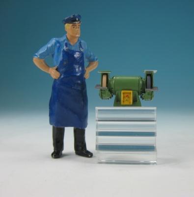 11433 - Tisch-Schleifbock, Doppelschleifer - Handarbeitsmodell im Maßstab 1:22,5