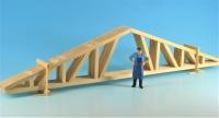 DUHA 16250 - 6  Dachstuhl -Nagelbinder einzeln in zwei Transportböcken  (Spur G)