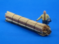 DUHA 11497 - 1 Bund Schwartenbretter 57,5 mm lang (Spur H0)