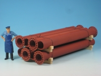 DUHA 16324 - Rohre, rot mit Flansch (Spur G)