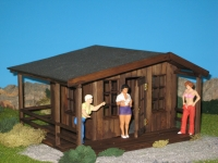 40938 - Gartenhaus mit Geländer