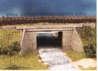 DUHA 21451 - Betonbrücke m. Geländer (Spur H0)