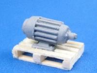 DUHA 11230 - Elektromotor auf Palette, klein (Spur H0)