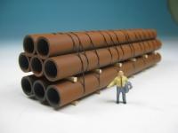 DUHA 11541 - Rostige Rohre für amerikanische Güterwagen
