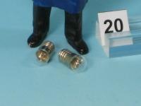 2 x Glühlampe klar, E 5,5 - 19 V - Glaskolben Ø 6 mm (3030)
