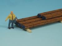 DUHA 11310 - Rostige Eisenstangen, gestapelt (Spur H0)