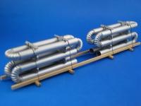 DUHA 11320 - Gebogene Rohre auf Holzgestell (Spur H0)