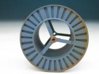 DUHA 11360 - Gealterte blaue Metallkabeltrommel (Spur H0)