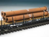 DUHA 11405 B - 5 rostige Rohre mit Flansch (Spur H0)