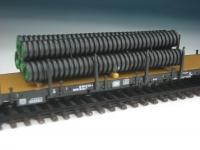 DUHA 11429 - 5 gerippte schwarze Kunststoffrohre (Spur H0)