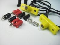 2 x LGB Innenbeleuchtung mit Steckern und Buchsen