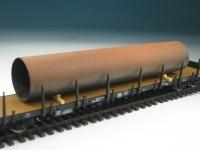 DUHA 11217 - Rostiges Rohr auf Holzträgern (Spur H0)
