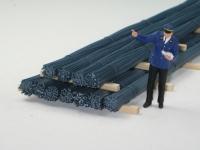 DUHA 18411 - Stahlblaue Rundeisen, gebündelt