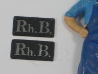 85850 B - 2 unbemalte Lokschilder