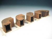 DUHA 11566 A - Rostige gebogene Lüftungsrohre (Spur H0)