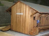 44990 B - Güterabfertigung / Lagerhalle braun (Spur 0)