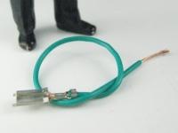 LGB Ersatzteil für Loks - grünes Kabel mit Pin-Stecker verquetsc