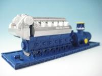 DUHA 11555 - Schraubenpumpe mit Motor und Rahmen