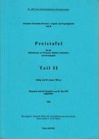 Deutsche Bahn AG - Preistafel Teil II - 1996