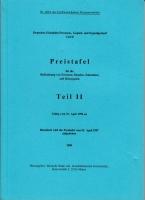 Deutsche Bahn AG - Preistafel Teil II - 1998