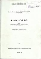 Preistafel DB - 1992