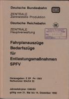 DB / DR - Bedarfszüge f. Entlastungsmaßnahmen - 1992