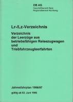 DB Ag · Lr-/Lz-Verzeichnis 1996/97