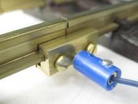 60/151 - 50 x Schienenverbinder aus Messing, 2-teilig