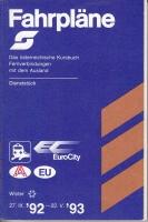 Österreichisches Kursbuch - Fernverbindungen 1992 (AN 110)