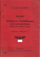 Merkblatt zur Verhütung von Betriebsstörungen durch Frost und Schnee, 1941 (AN 58)