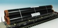 DUHA 11326 B - 3 schwarze Rohre mit Aufdruck